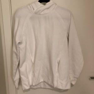 Lululemon White Heavy Hoodie Swestshirt